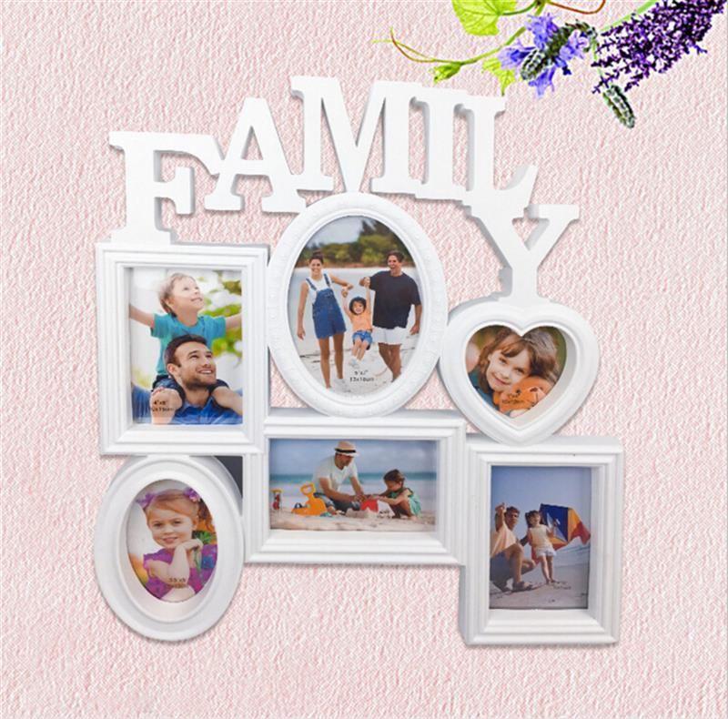Compre Nuevo Marco De Fotos De Collage 6 Aberturas Familia Marco De
