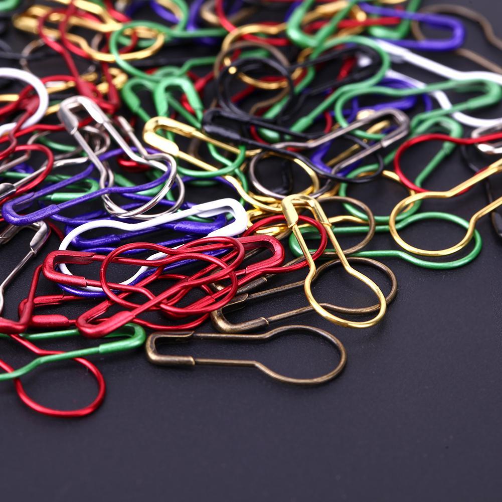 Pinos de Segurança de cor mista Calabash Gourd Forma de Segurança Pin Marcadores Pinos De Costura De Artesanato Ponto De Costura Titular Acessórios