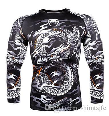 Compre Camiseta Deportiva MMA De UFC M1 Para Hombre Boxeo De Muay Thai  JUJITSU ABSOLUTE RASHGUARD Venum Nightcrawler MMA Fighting Camisetas De  Manga Larga ... dbc74a9736600