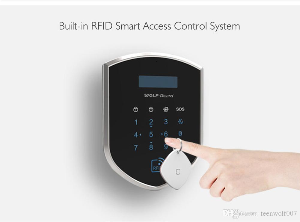 Wolf-Guard DIY 2G GSM WIFI Sheild Wireless Home Alarm Security Burgle System Door/Window Sensor PIR Motion Detector Remote Control Access