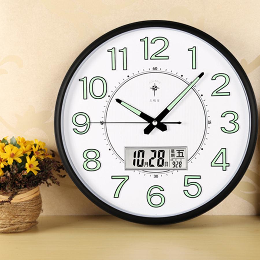 Large Digital Wall Clock Modern Design Electronic Silent Nordic Wall Clock  Horloge Maison loft decor White Metal Watch 70CW301