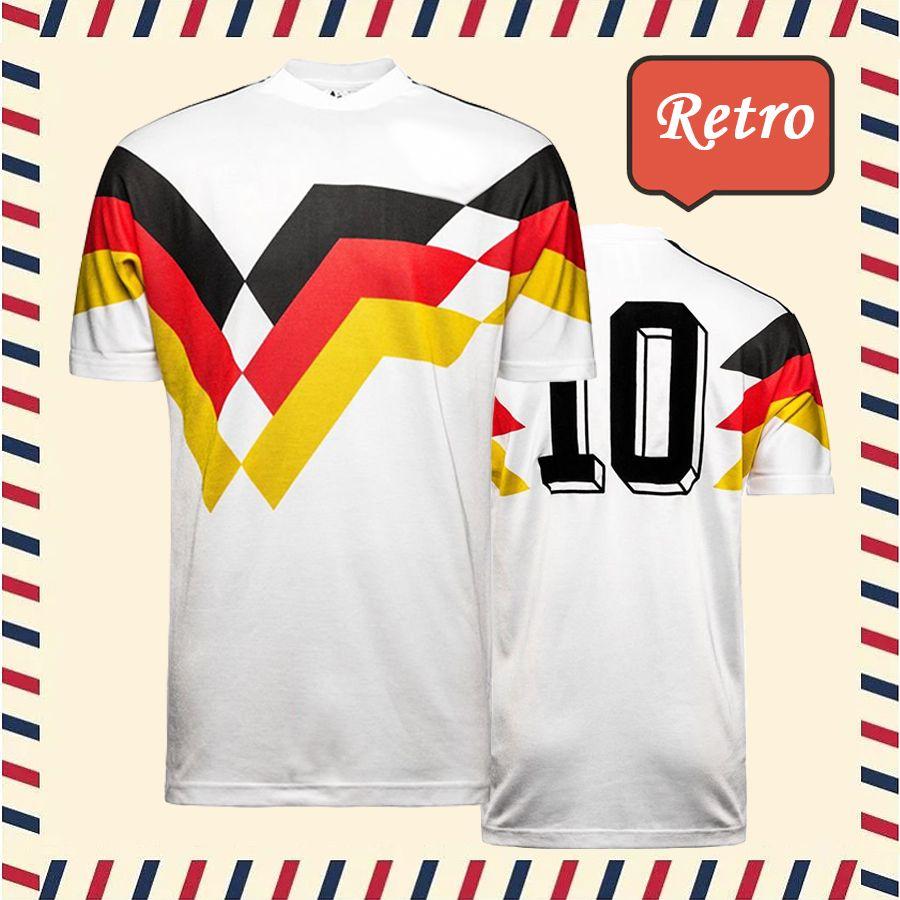 0041b5f8d 2019 Top Thai Quality 1990 Retro Deutschland Home Originals Futebol  KLINSMANN Matthäus Soccer Jersey Camisa De World Cup Germany Football  Shirts From ...
