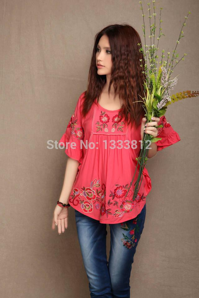 New Vintage 70s Batwing Embroidered Hippie Festival Mini Dress Boho