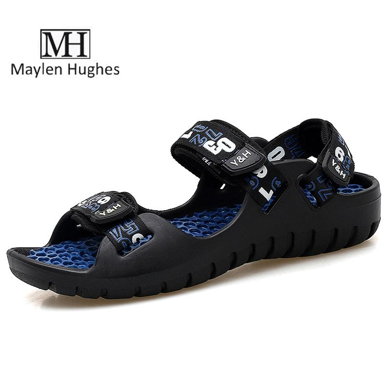 a5f6f6a4a MH Hot Summer Shoes Men Sandals Brand Slippers Men Beach Sandals Black  Outdoor Slip On Mens Slippers Rome Style Plus Size 39 44 Shoe Sale Shoes Uk  From ...