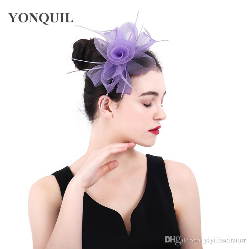 2018 New Arrival Lavender Crinoline Fascinators Hats Hair Accessories For  Wedding Church Party Kentucky Derby Ascot Races SYF401 Vintage Hats With  Netting ... 01e0fae797b
