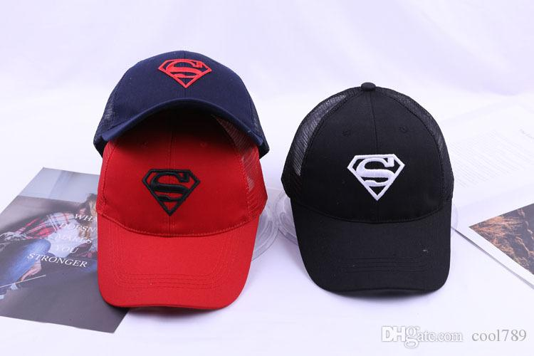 062f70e9554 2018 Vogue Sports Diamond Superman Embroidered Baseball Caps Chapeu Outdoor  Golf Vintage Gorras Planas Casquette Hip Hop Casual Floral Hats Ball Caps  Fitted ...
