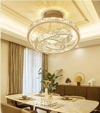 Esszimmer Kronleuchter Moderne Einfache Drei Kopf Ring Kreative Personlichkeit Fuhrte Kristall Lampe Doppelgebaude Grossen Kronleuchter