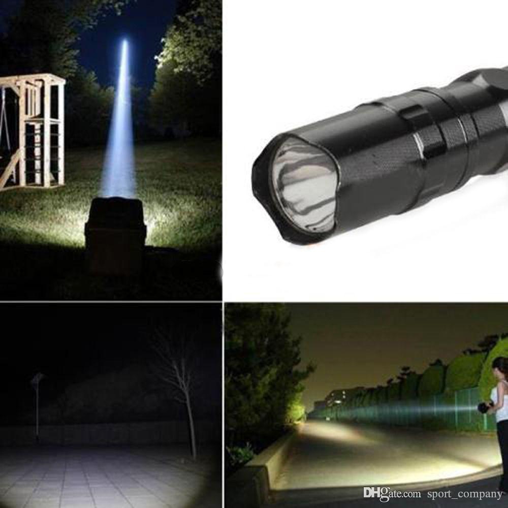 LED Mini Lampe De Poche Torche 3W LED AA Led Pratique Extérieur Imperméable À L'eau Pour Les Sports Camping Allume-torche En Alliage D'aluminium Portable