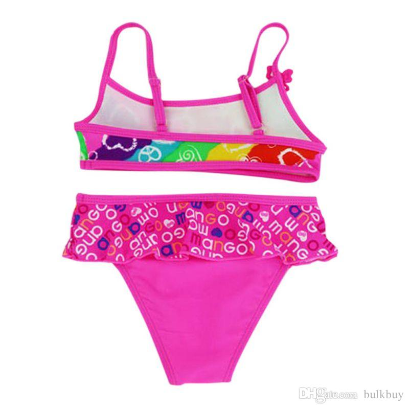 Summer Girls Split Bikini a due pezzi Costumi da bagno bambini Costumi da bagno Baby Floral Swimming Suit Girl Beachwear