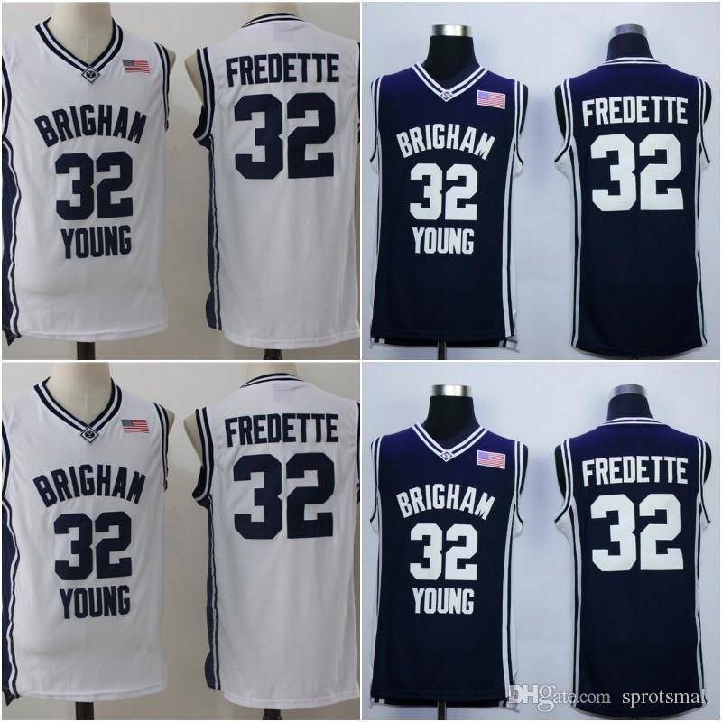 reputable site 7667e 254d1 # 32 Jimmer Fredette Brigham Young Jersey Jersey de baloncesto  universitario cosido de alta calidad Fredette BYU University Jersey