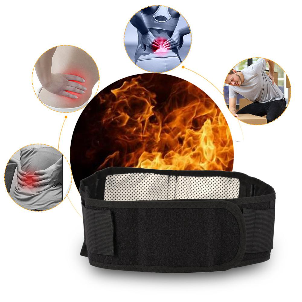 Waist Support Belt Waist Brace Support Belt Self Heating Magnetic Therapy Lumbar Braces Bandage Lower Back