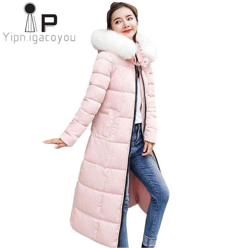 Großhandel Roter Langer Winter Mantel Frauen Koreanische Jacken Plus