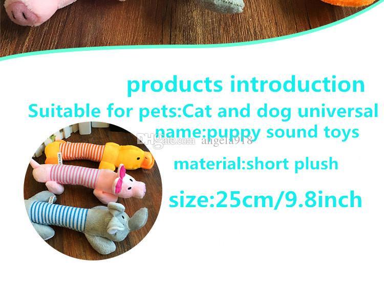 EMS Pet Puppy giocattoli molari masticare squeaker carino maiale peluche elefante anatra cane giocattoli cane compagno di giochi forniture animali H040