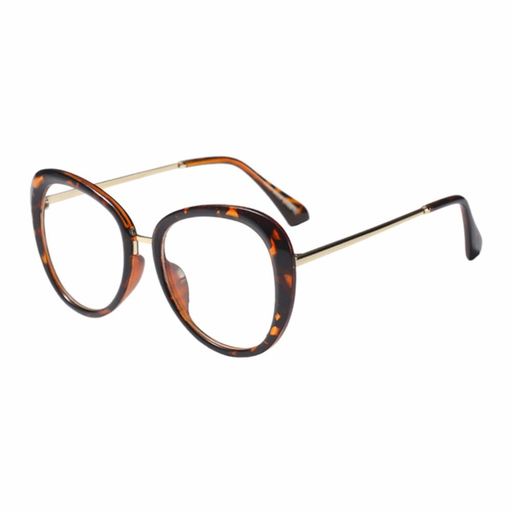 58dcea9a48a9 Oversized Metal Oval Frame Vintage Women Men Clear Lens Eyeglasses ...