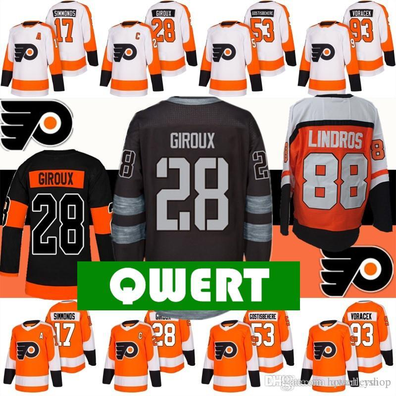 e8c097328 Nhl Real Philadelphia Flyers Jersey Hockey Jerseys 28 Claude for ...