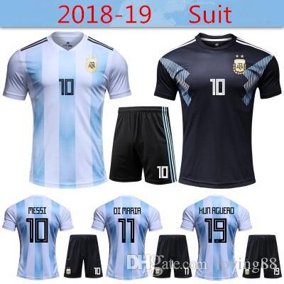 2018 World Cup Argentina Jersey Messi Dybala Kun Aguero Futbol ... 7c0a3ea3e580