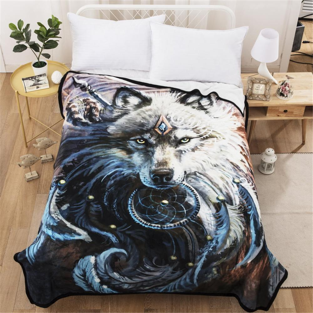 420d1ad6e4 Cilected Winter Super Soft Fleece Blanket Throw Bed Sofa 3D Wolf Thick  Blanket For Adults Beds Couch Cover 150 200cm Size Blankets For Sale Online  Big Fuzzy ...