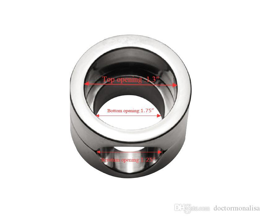ذكر الثقيلة المقاوم للصدأ الصفن نقالة الرجال cockball حلقة الضغط قلادة القيود عبودية جهاز مثير اللعب doctormonalisa cr015