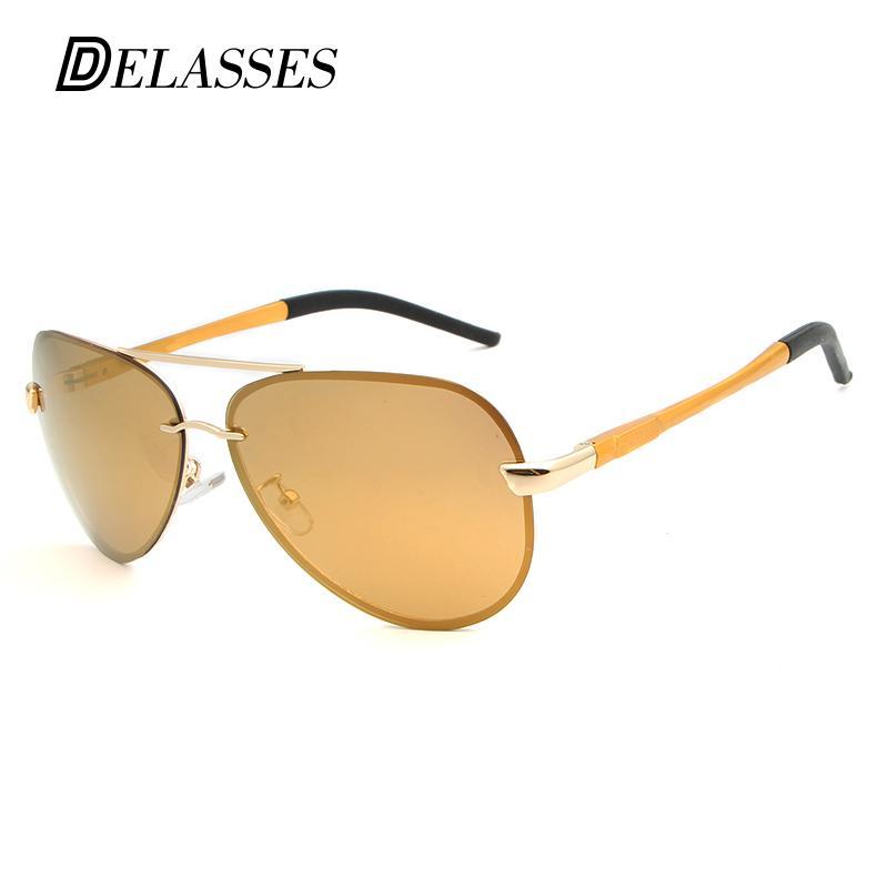 Compre Delasses Aluminio Vintage Magnesio Oro Hd Gafas De Sol Polarizadas Aviación  Hombres Mujeres Conducción Gafas De Sol Unisex Gafas Oculos A  30.86 Del ... f47489537e46