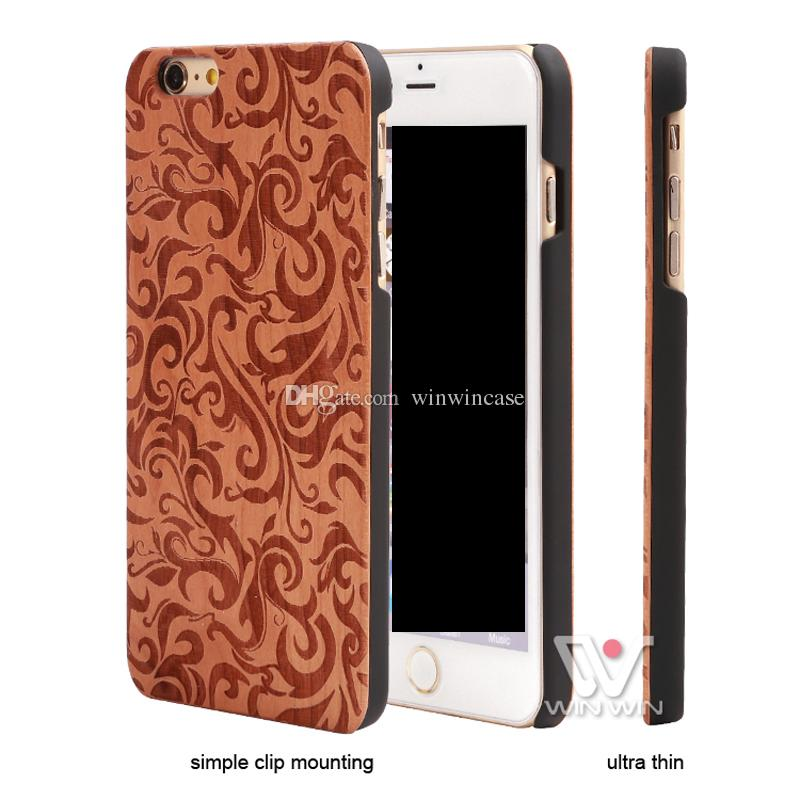 New design style wood cellphone case for iPhone 7plus 8plus 7 8 plus, luxury winwincase brand hard back cover for Apple i Phone
