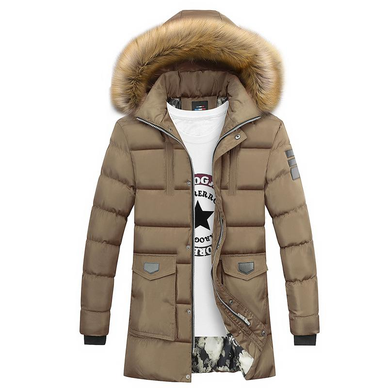 be3a3e90956 2019 Winter Of 2018 Men Hooded Pure Color Long Leisure Down Cotton Padded  Jacket In Youth Collars Cotton Padded Clothes From Bairi