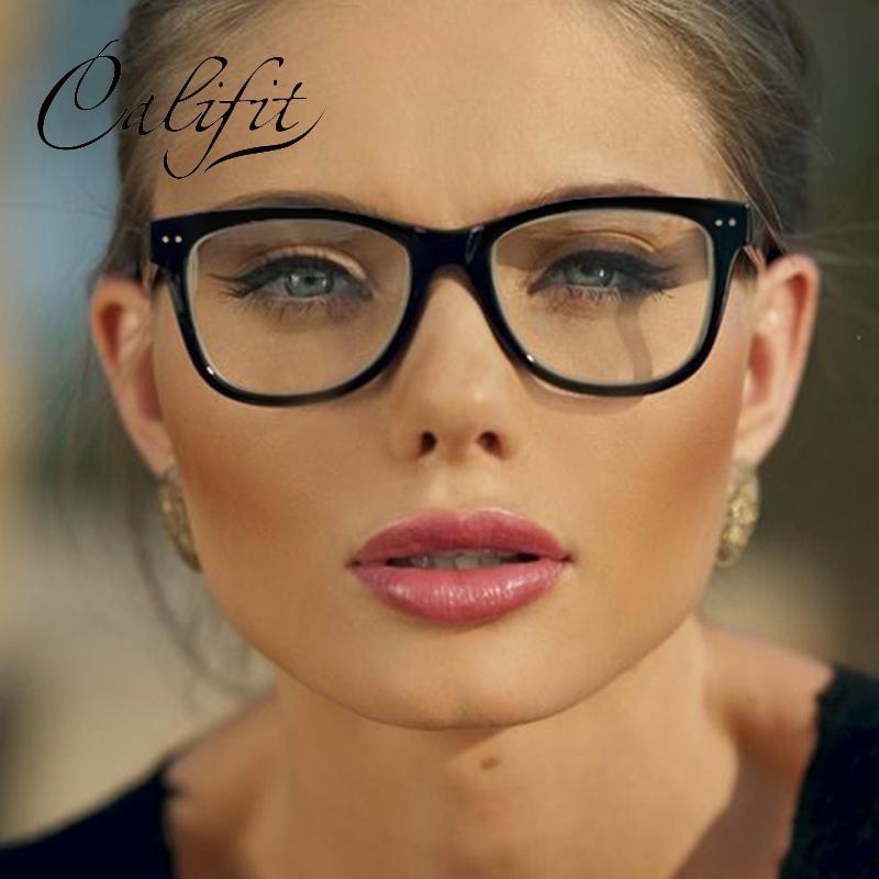 Großhandel Califit Neue Frauen Brillen Original Marke Platz Gläser ...
