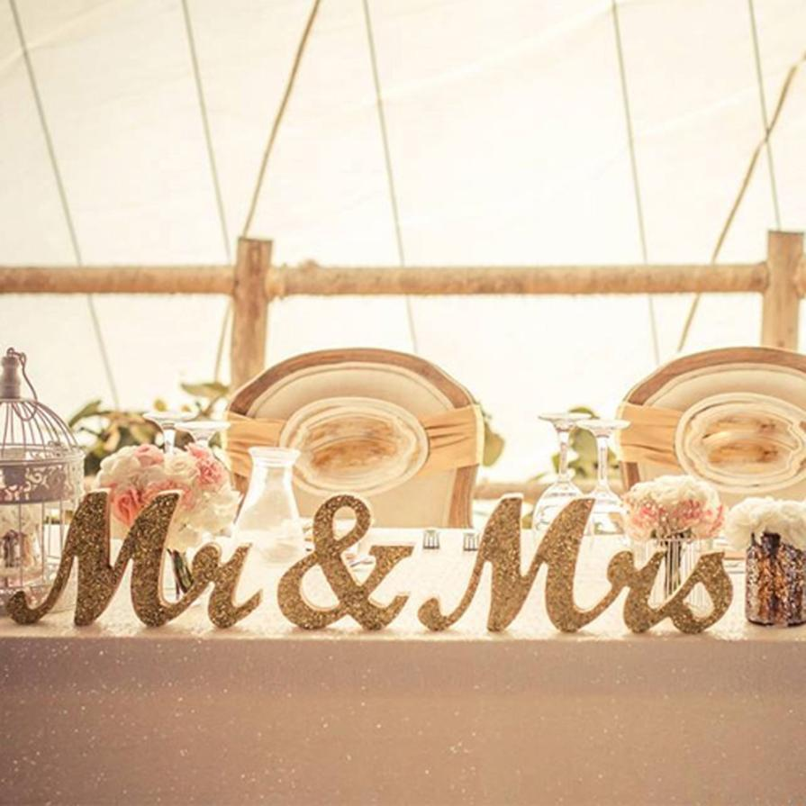 Christmas Decorations MR & MRS Wooden Letters Wedding