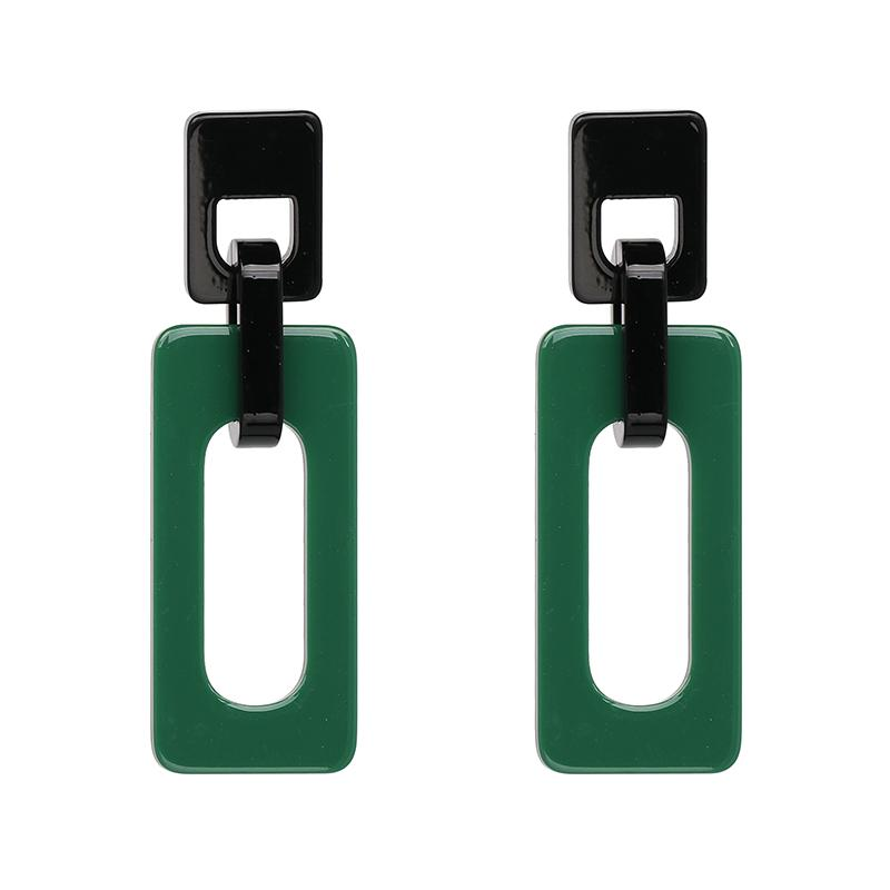 Vintage Statement Jewelry Square Drops Earrings Resin Fashion Dangle Earring For Women Hot Sale Wholesale Price F50406