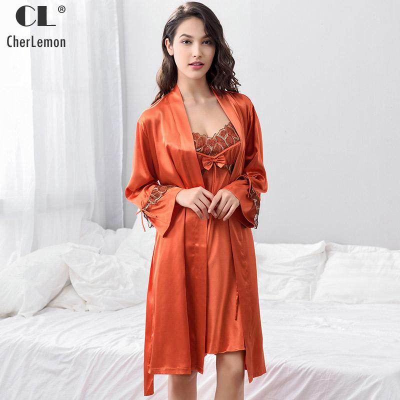 2018 Cherlemon Spring Satin Robe Gown Set From Vanilla03, $52.79 ...
