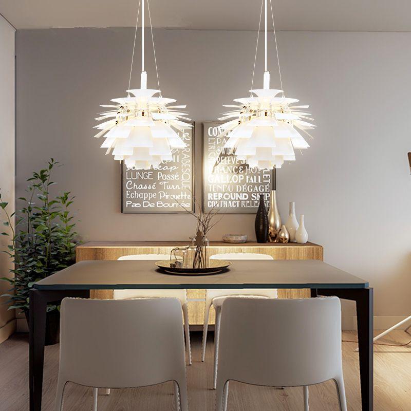 Nordic Postmodern Kreative Kronleuchter Aluminium Wohnzimmer Pendelleuchten Esszimmer Kronleuchter Hangenden Lichter