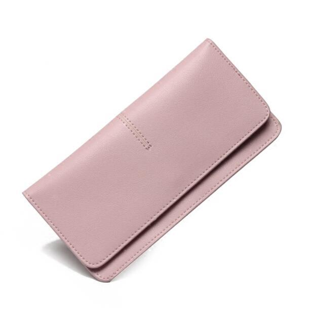 0718d31d3bd34 Slim Wallet Female Minimalist Design Super Thin Candy Color Leather Ladies  Purse Money Bag Simple Women Wallets Girl Designer Wallets For Teens Stussy  ...