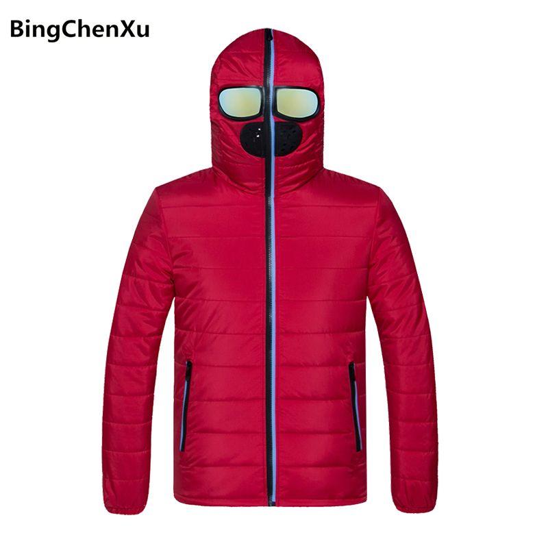 newest b5c64 565d9 Giacca invernale da uomo alla moda Moda rossa calda Parka Casual Solid  Giacche e cappotti casual Nuovi uomini giacca a vento da uomo di marca 1100
