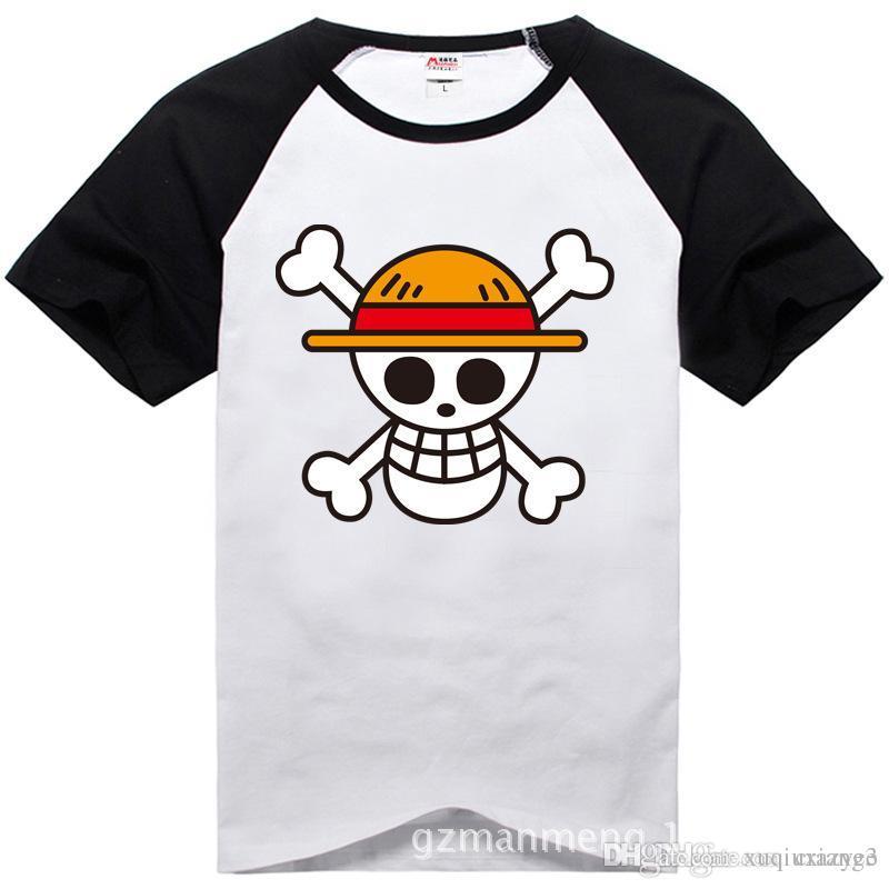 Acquista T Shirt One Piece 2017 Moda Giapponese Anime Abbigliamento  Indietro Colore Rufy Cotton T Shirt Uomo E Donna 73ed5c9dedee