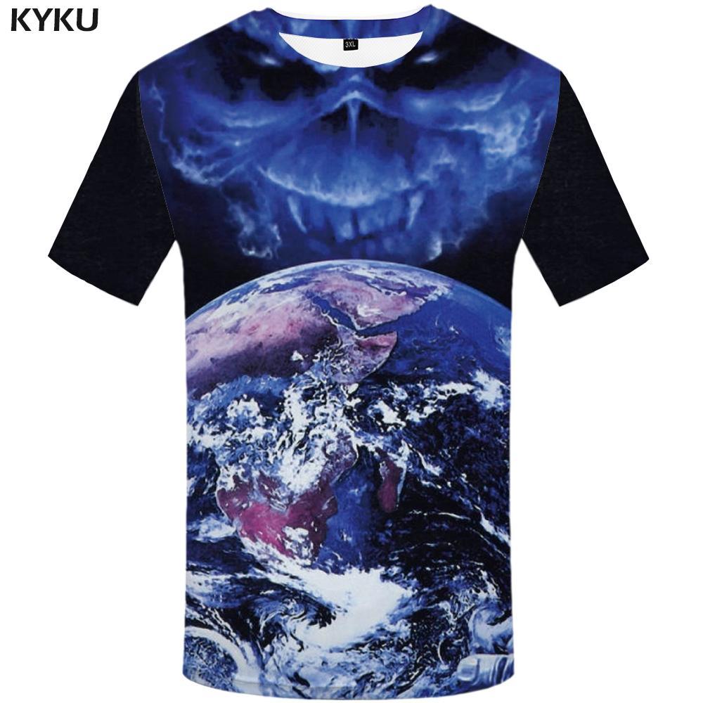 Acquista KYKU Iron Maiden T Shirt Uomo Blue Skull T Shirt Hip Hop Tee  Streetwear Graphic Magliette Divertenti T Shirt Terra Mens Abbigliamento  2018 A  28.88 ... a83ec1acf352