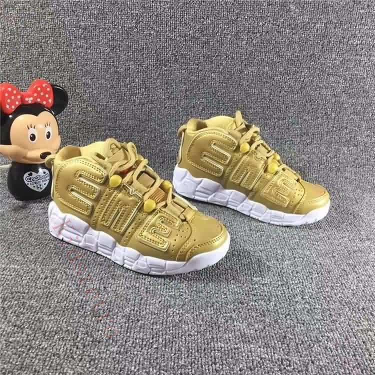 65e558644bc Infant Uptempo Pippen Kids Basketball Shoes Black Red White Children ...