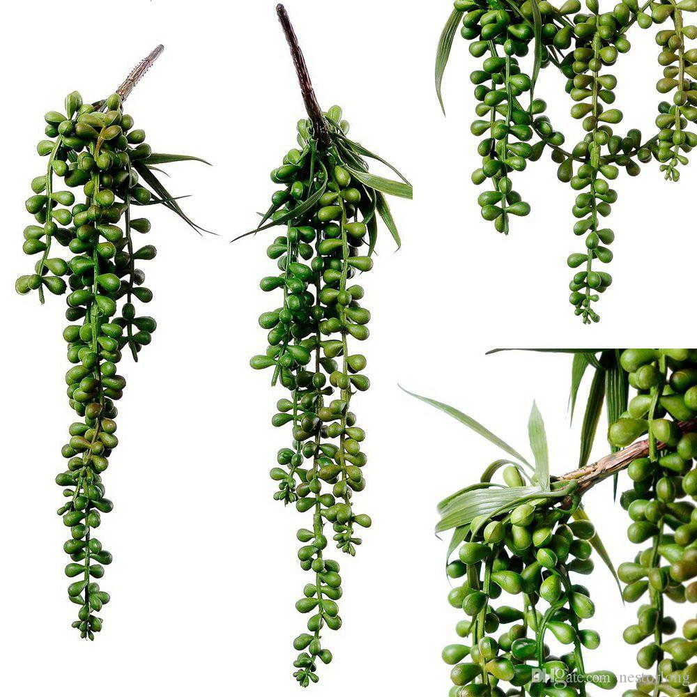 Online Cheap Artificial Hanging Plants Fake Succulents String Of ...