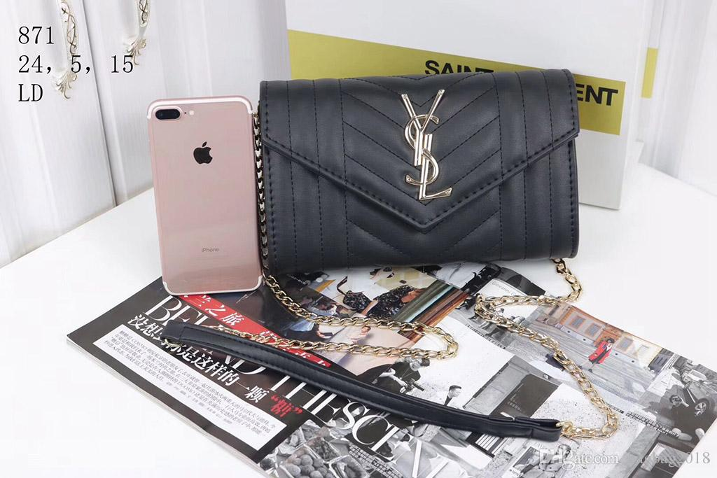 2018 new Hot brand shoulder bag designer handbag luxury handbag High quality women fashion chain wallet phone bag free shipping 6 color