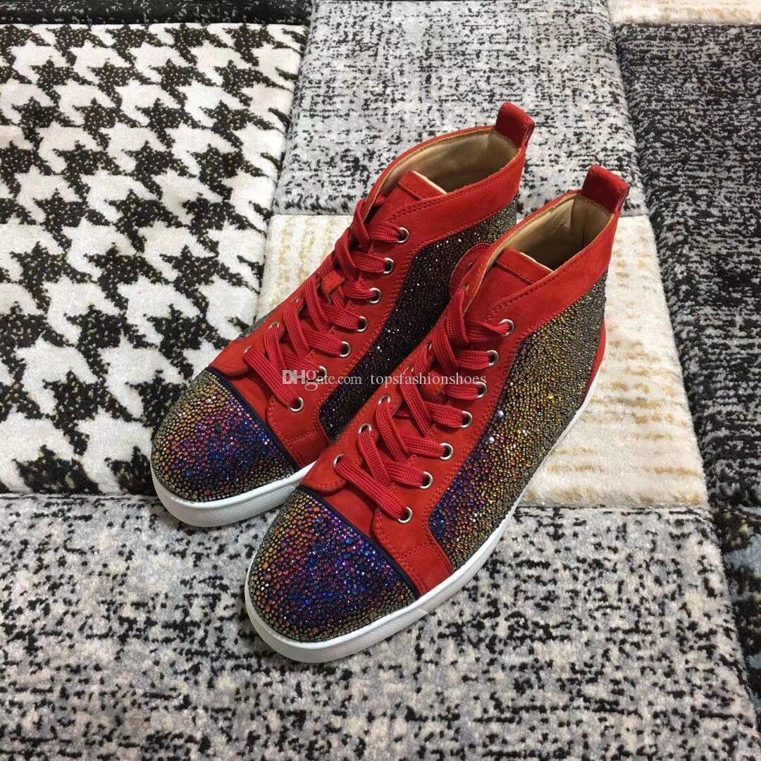 Purple Strass Sneaker Shoes Perfect Uomo Donna Design Party Red Bottom  Sneakers Lovers Scarpe Comode Il Tempo Libero A  98.5 Dal Topsfashionshoes   f3acc26c545