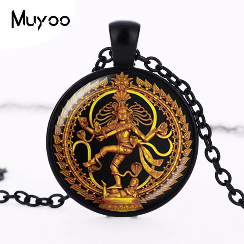 Wholesale Whole Salegolden Buddha Necklace Dance Of Destruction Lord