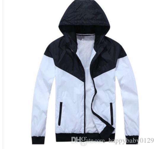 Moda Yeni Erkek Kadın Ceket Bahar Sonbahar Güz Rahat Spor Giyim Giyim Rüzgarlık Kapşonlu Fermuar Up Coats