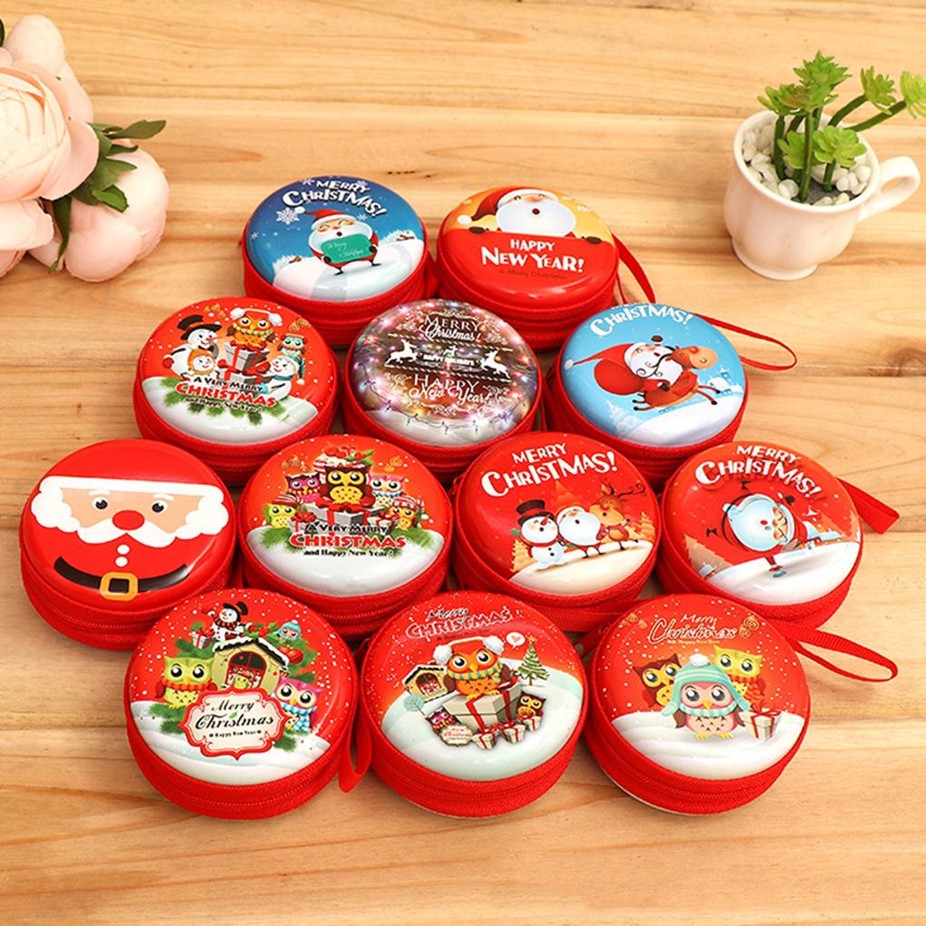 2018 Christmas Tree Hanging Decorative Ornaments Adorable Mini Gift Candy Coin Headset Storage Bag