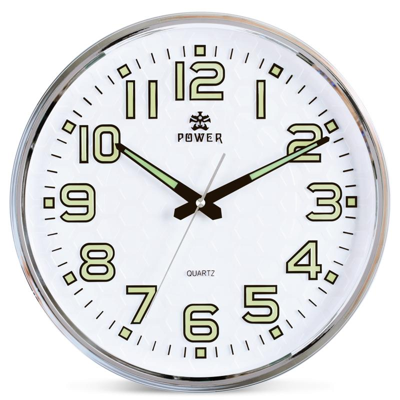 power brand 13 inch round wall clock with silent non ticking night rh dhgate com vintage kitchen clocks for sale kitchen wall clocks for sale