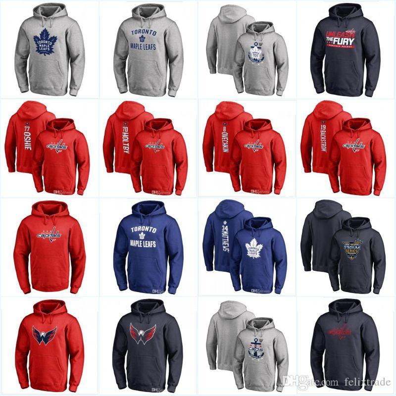 Toronto Maple Leafs Washington Capitals 2018 Stadium Series Hoodies Jerseys  Sweatshirts High Quality Pullover Hoodie Jersey UK 2019 From Felixtrade b86eb3266