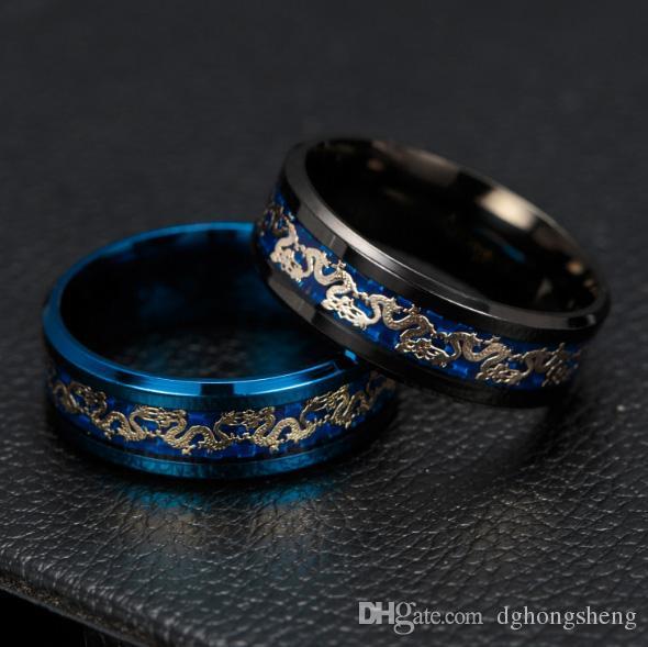 2017 nuovi gioielli caldi di alta qualità in acciaio al titanio drago logo anello signora donna uomo festa di Natale promozione di giorno