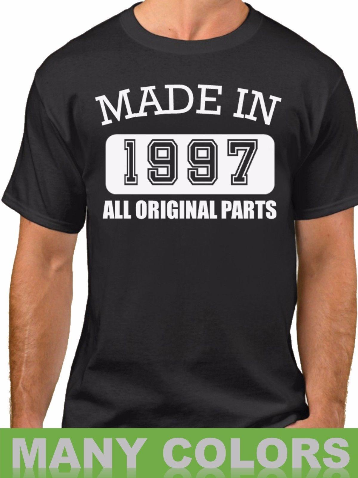 Grosshandel Made In 1997 Alle Originalteile T Shirt 21 Jahre Sein 21