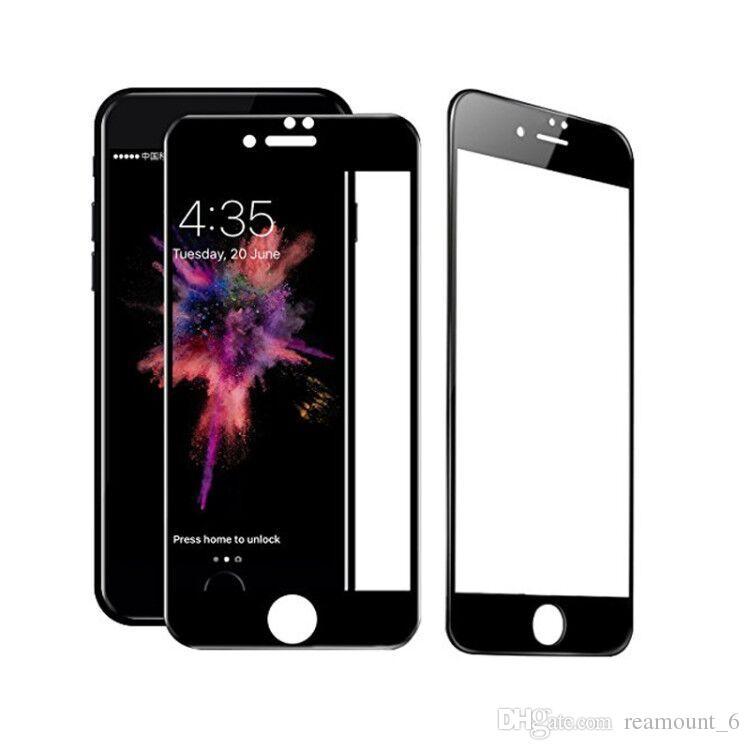 5d filme protetor de tela de cobertura completa para iphone x vidro temperado para iphone 8 screen guardian filme capa completa curvo