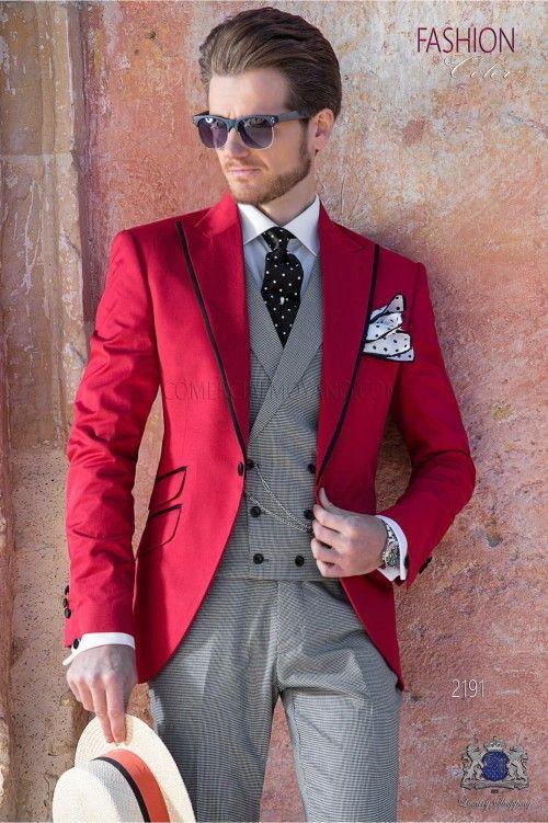 Acquista 2019 Nuovo Stile Rosso Smoking Da Uomo Smoking Picco Risvolto Smoking  Dello Sposo One Fashion Uomini Cena   Vestito 3 Pezzi Darty Giacca + ... 7e6c1d88a87