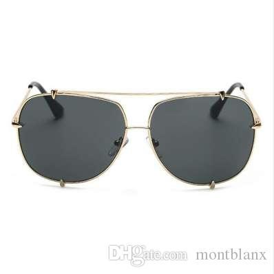 7b8ce178d6eb HBK Fashion Oversized Pilot Sunglasses Women UV400 Retro Brand ...