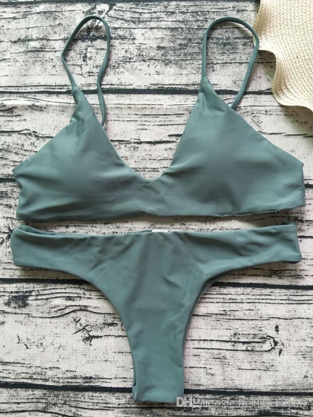 Vendita calda Sexy Bikini Vita alta Costume da bagno Costumi da bagno Donna Brasiliana Bikini Set Costume da bagno femminile Estate Abbigliamento da spiaggia