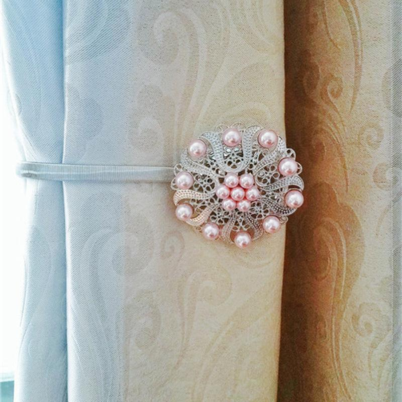 Flower Curtain Tie Backs Shower Tieback Magnet Buckle Clips Home Decor Tiebacks For Curtains Steel Wire Strap Tassels Online With 799 Piece On
